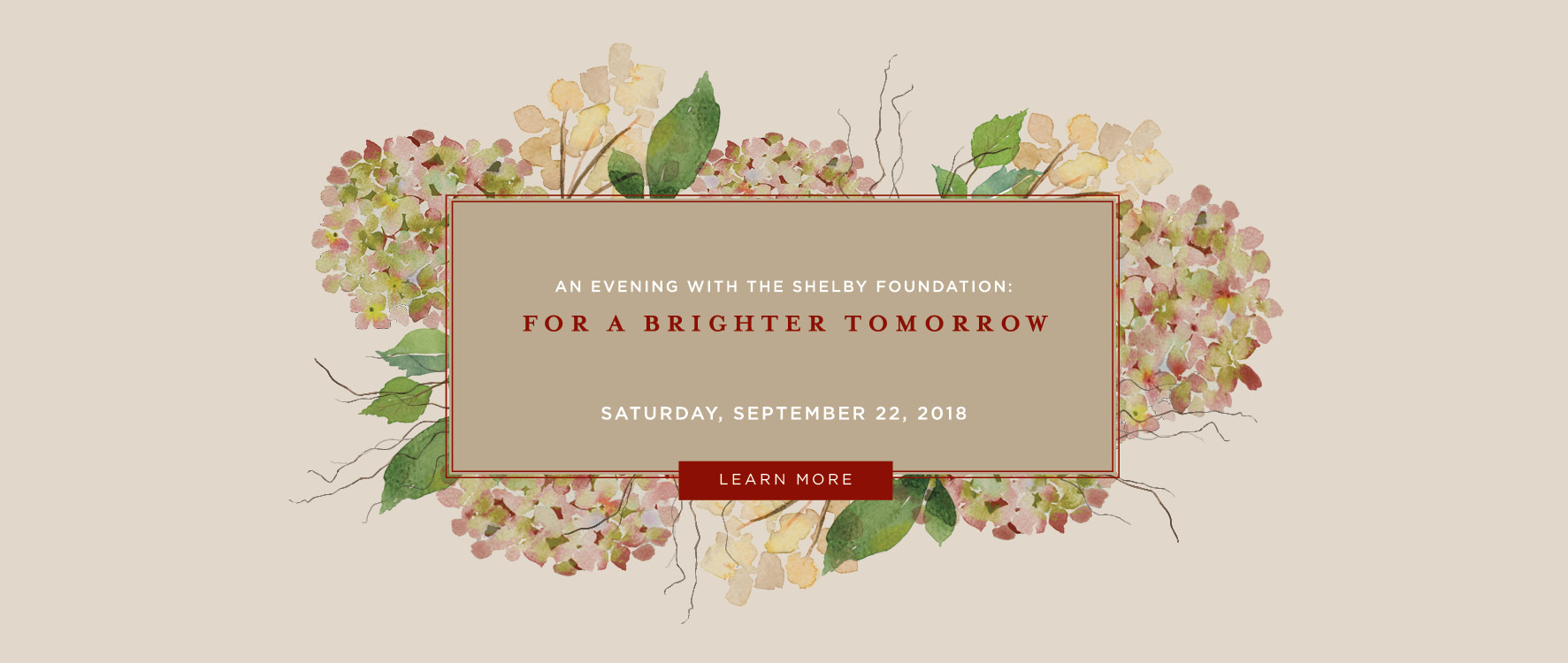 Annual Fall Fundraiser | The Shelby Foundation